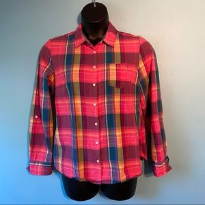 Tommy Hilfiger plaid button up shirt